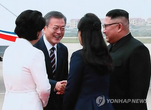 文在寅金正恩在神秘的朝鲜劳动党总部会谈