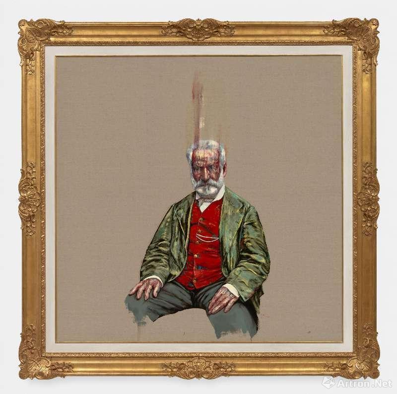 《雨果》,油彩画布,180 x 180cm,2018 ©曾梵志,图片:艺术家、豪瑟沃斯