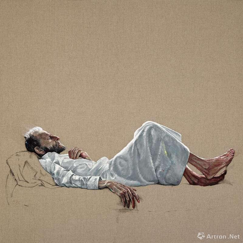 《弗洛伊德》,油彩画布,200 x 200cm,2017 ©曾梵志,图片:艺术家、豪瑟沃斯