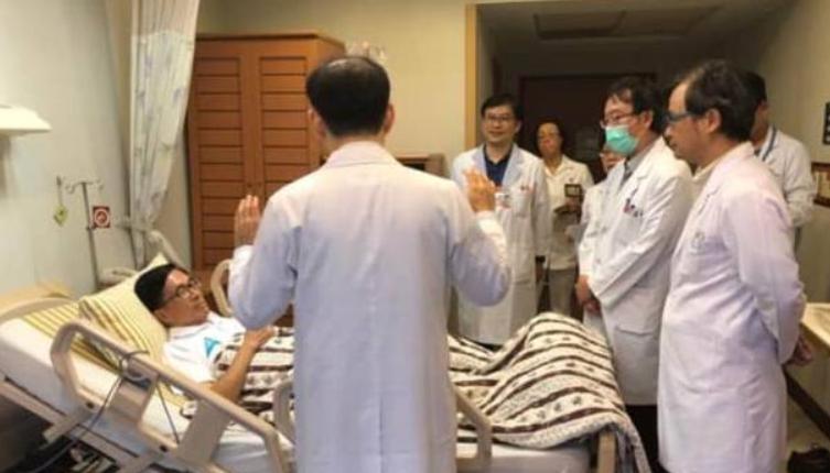 """陈水扁明天将为儿子站台 却因""""结石""""住院"""