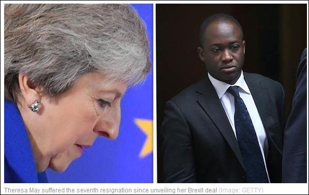 """英将退出欧盟""""伽利略""""计划 又一内阁成员请辞"""