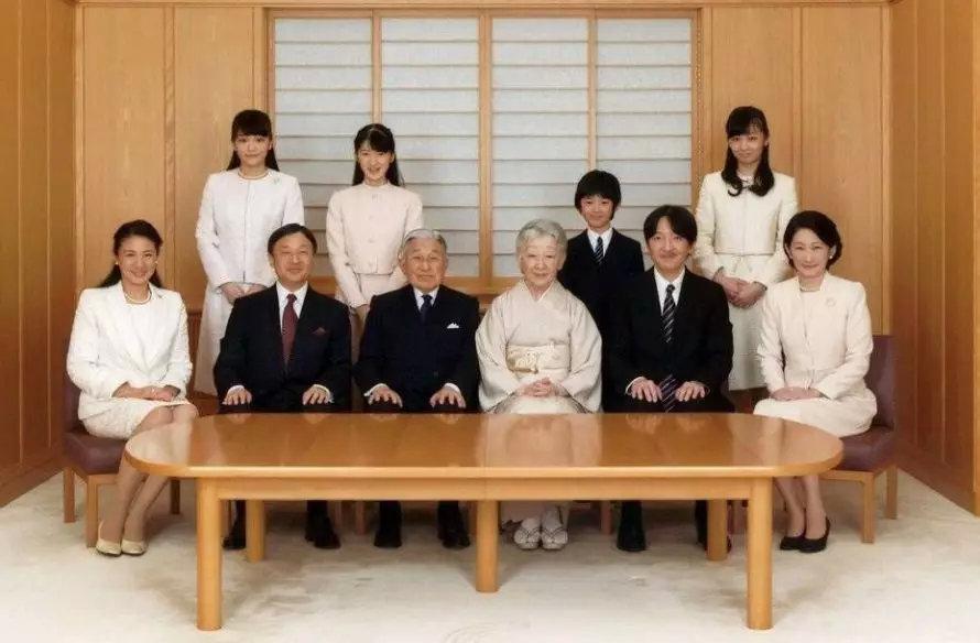 ▲日本皇室的全家福
