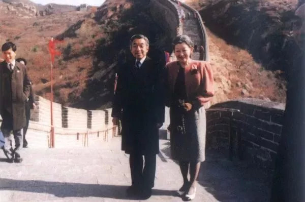 ▲明仁天皇1992年访华旧照