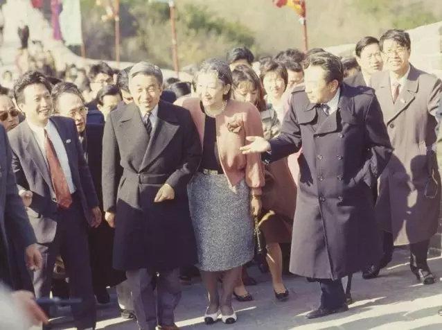 ▲1992年明仁天皇访华