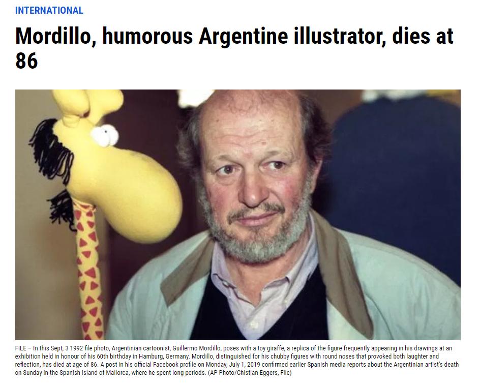 《大力水手》作者莫迪洛去世 享年86岁