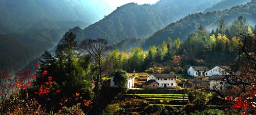 旅游  牯牛降风景区位于石台县与祁门县交界处,是安徽南部三大高山(黄