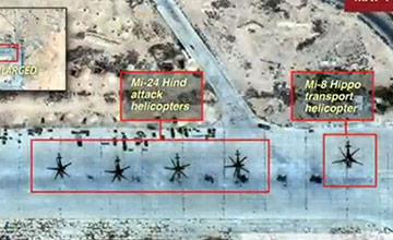 卫星画面:俄罗斯空军基地被彻底摧毁