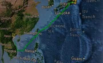 奥巴马访越飞行航迹曝光 特意避开中国西沙群岛