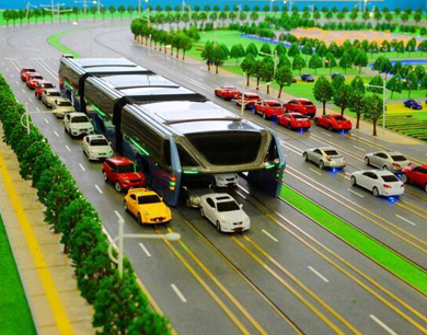 """中国""""最牛巴士""""设计亮相 可减少35%拥堵"""