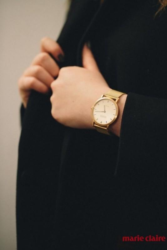 a高调高调生小女一枚腕表女生情怀秀出金色感狗环带文艺图片