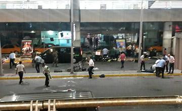 土耳其机场爆炸现场 近50死