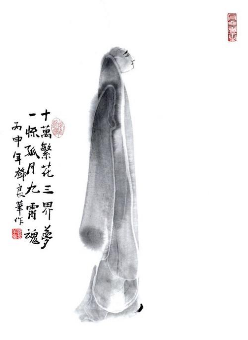 黄胤然禅诗,邓良华禅画
