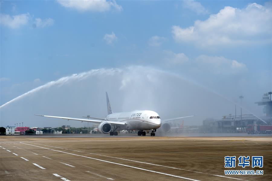 杭州机场开通第一条直达美洲航线