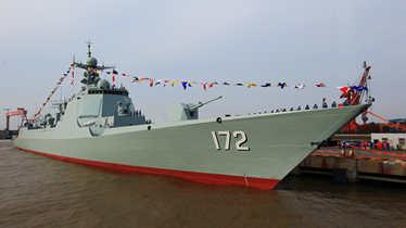 传中国第二艘国产航母开建 第9艘052D下水