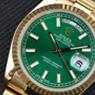 炎炎夏日 戴款绿色腕表降降温
