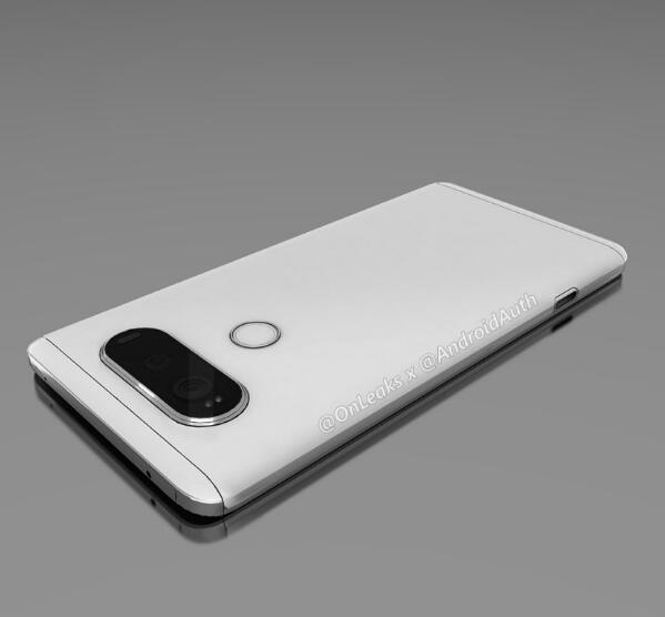 LG V20渲染图泄露 全金属机身 背部双摄像头