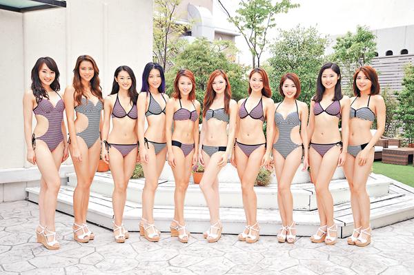【星娱TV】港姐十强佳丽穿泳装见媒体 上围突然缩水
