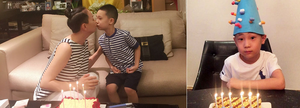 """好温馨!宋丹丹与大竣一起庆生 玩亲亲又""""撞衫"""""""
