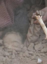 也门遭空袭现场