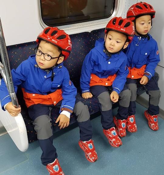 三胞胎长大啦!大韩民国万岁变小小消防员(图)