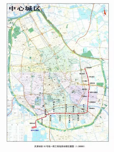 铁11号线最新线路图-天津地铁11号线21个车站及线路首次公开图片