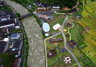 国际竹建筑双年展开幕 竹建筑构成生活社区