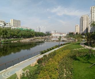 李村河大集旧址如今成了景观带