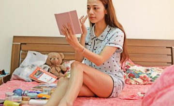 在中国的越南女模特