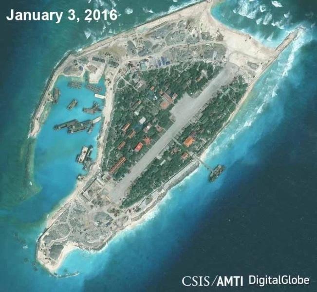 美智库:越南在南海岛屿扩建跑道