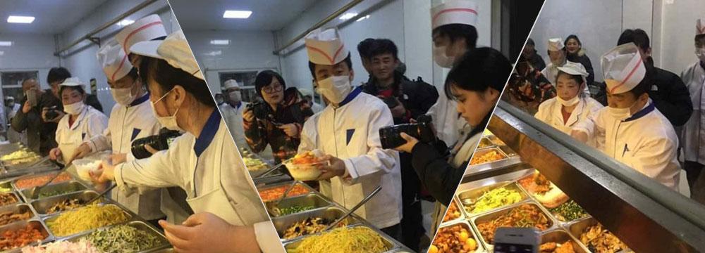 王宝强变食堂小哥 为学生打饭送温暖