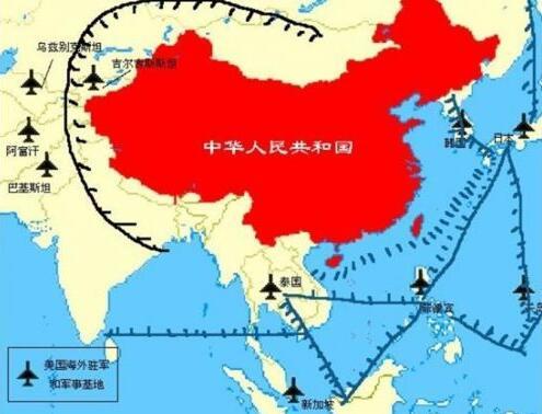 英媒:美用400个军事基地包围中国 脖子上架刀了