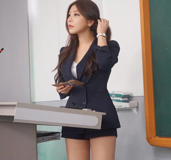"""韩国""""最美女教师"""" 讲台撩人, 有了她谁还旷课[24P]"""