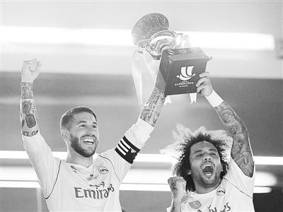 皇马双杀巴萨 第10次赢得西班牙超级杯冠军