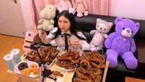 大胃少女直播吃30个猪蹄 途中一举动吓坏粉丝
