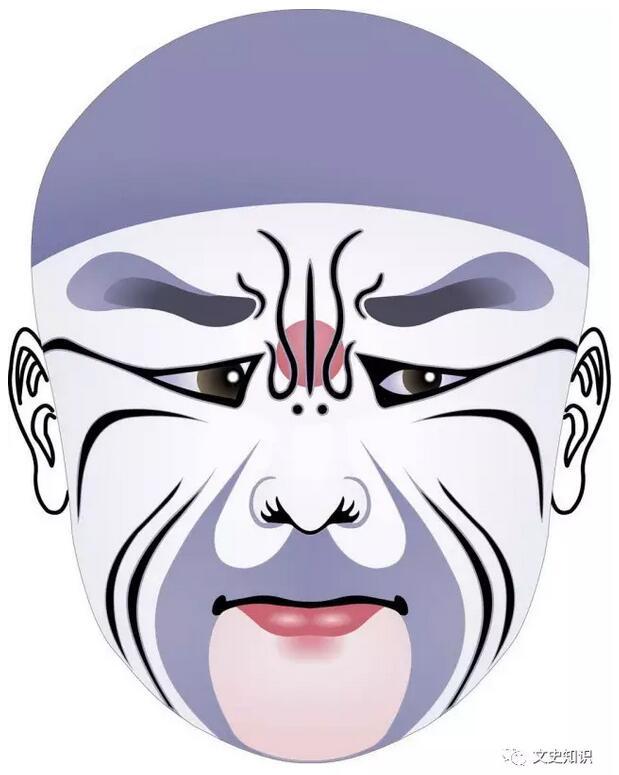 《凤仪亭》之董卓 从面具到涂面,又发展到脸谱,从戏剧舞台的需要来看,是一种进步。因为面具虽然可以改变人的面貌,可以夸大五官部位,可以突出面部表情,但缺点很明显。面具是用纸板或是别的固定物品制成的,如果面容是个笑脸的话,它就永远是个笑脸;如果是个狰狞面目的话,它就永远是个凶恶可怕的模样,机械呆板,缺少变化,不利于戏剧表演。画在脸上的脸谱就大不一样了。人的肌肉是活的,在脸上涂上色彩,尽管夸大了眉毛、眼睛、鼻子及嘴的形状和部位,但由于面部肌肉的自由活动,因此人物的喜怒哀乐,可以因剧情随时改变、变化。所以说面具