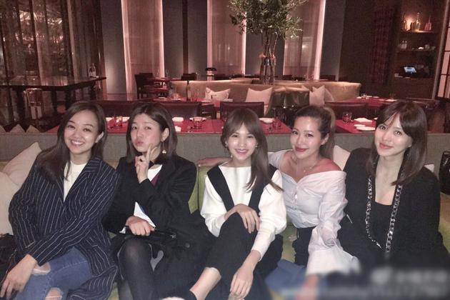 杨丞琳闺蜜聚会获赞女神 陈妍希产后元气似少女