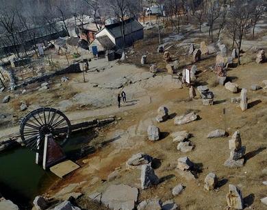 石头砌成的小山村