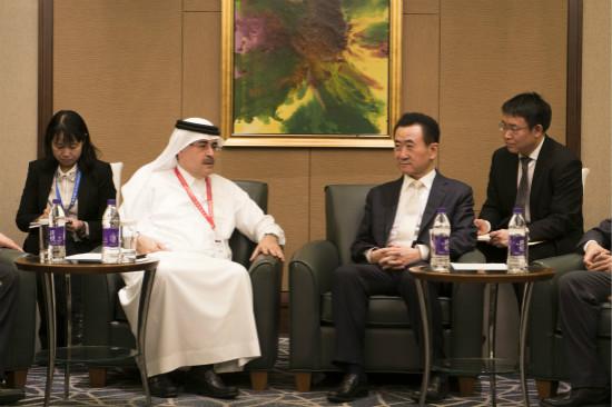 沙特国王及阿美石油公司总裁会见王健林(图)