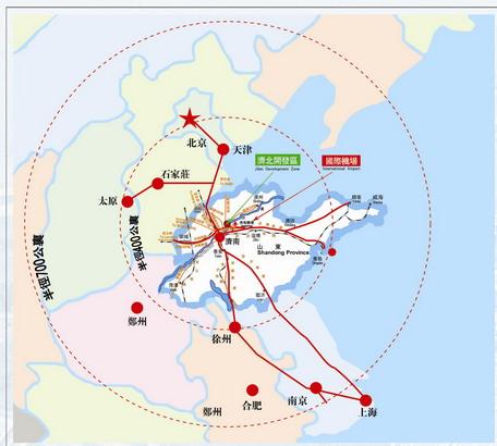 山东省济阳县地图