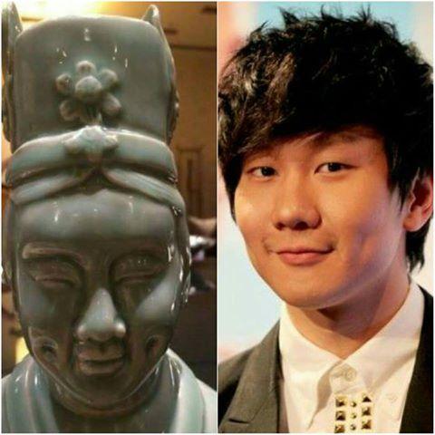 林俊杰撞脸雕像被同门调侃:师兄是你吗?