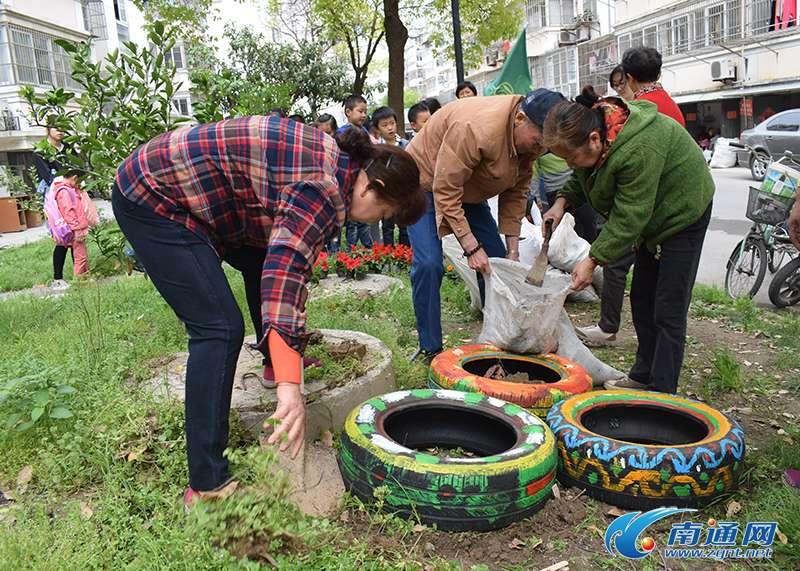 南通德民社区手绘助环保