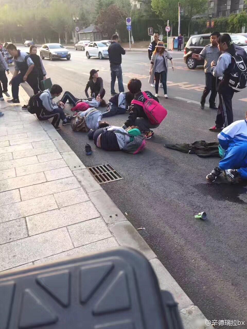 大连发生重大车祸 多名学生被撞飞