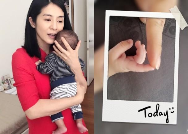 杨采妮分享与孩子合照 称去工作时也超想孩子