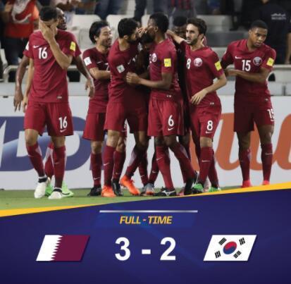 12强赛-卡塔尔3-2韩国 将中国队甩到倒数第一(图)