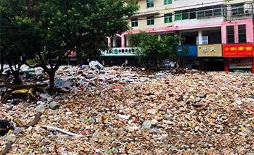 这是陕西受灾地区的路面