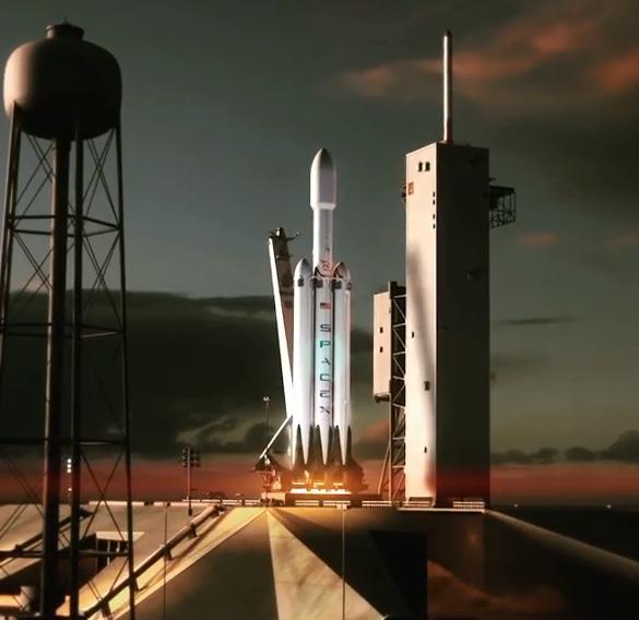 马斯克公布最新猎鹰重型火箭发射动画:回收三