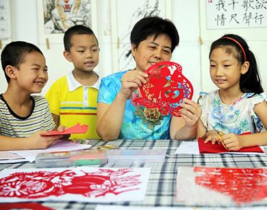 南丰:暑期传艺