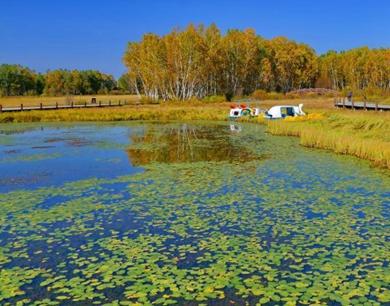 河南省许昌市中心城区河湖水系重点工程之一,占地284亩,湖面面积是260