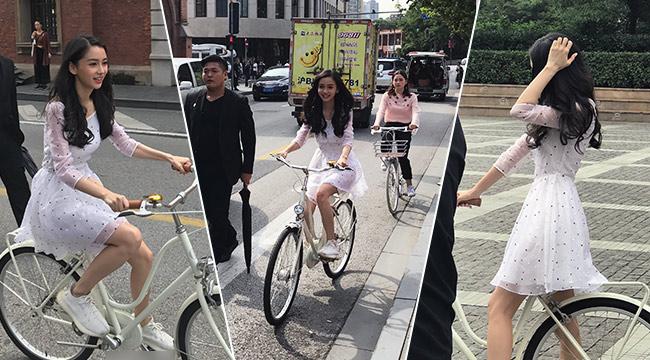 尴尬!Baby街头骑单车被拍 却被官方点名批评了…