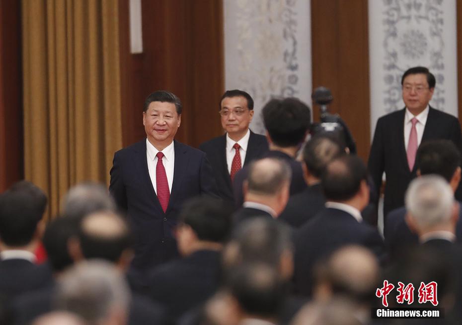 国务院举行国庆招待会 习近平等党和国家领导人出席图片